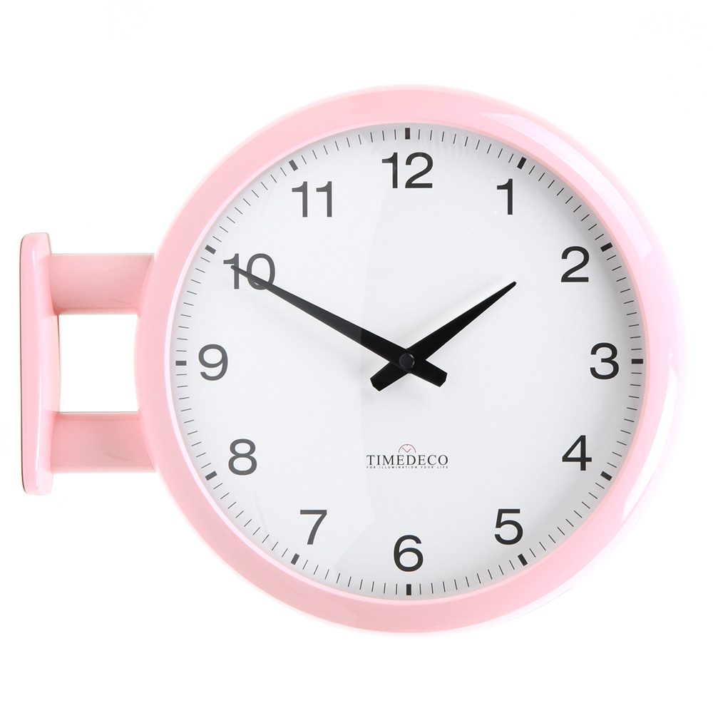Morden Double Clock A5(Baby Pink)