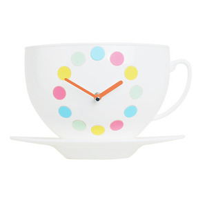 Coffee Cup Clock (Pastel)