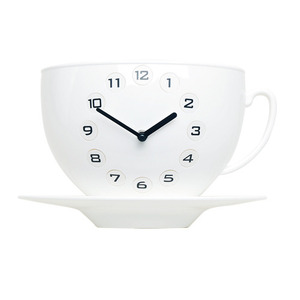 Coffee Cup Clock (WH)